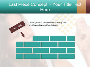 Woman Takes Pills PowerPoint Template - Slide 46