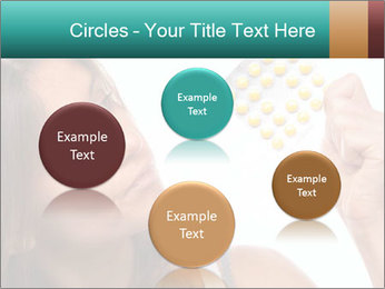 Woman Takes Pills PowerPoint Template - Slide 77