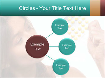 Woman Takes Pills PowerPoint Template - Slide 79