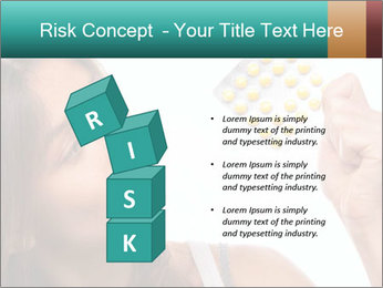 Woman Takes Pills PowerPoint Template - Slide 81