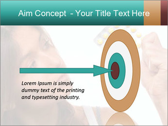 Woman Takes Pills PowerPoint Template - Slide 83