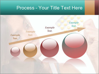 Woman Takes Pills PowerPoint Template - Slide 87