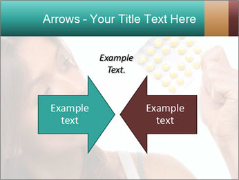 Woman Takes Pills PowerPoint Template - Slide 90