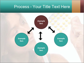 Woman Takes Pills PowerPoint Template - Slide 91