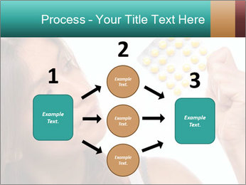 Woman Takes Pills PowerPoint Template - Slide 92