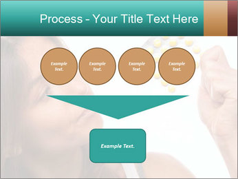 Woman Takes Pills PowerPoint Template - Slide 93