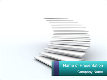 Rising Stairs PowerPoint Template