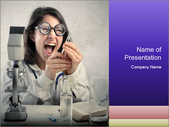 Crazy Medicine Student PowerPoint Template - Slide 1