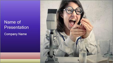 Crazy Medicine Student PowerPoint Template
