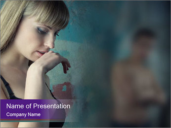Woman In Crisis PowerPoint Template