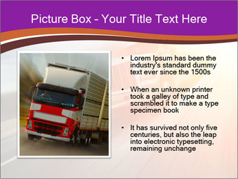 Vehicle And Bright Light PowerPoint Template - Slide 13