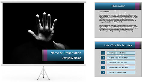 Hand Silhouette PowerPoint Template