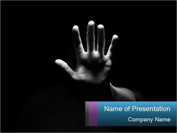Hand Silhouette PowerPoint Template - Slide 1