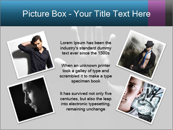 Hand Silhouette PowerPoint Template - Slide 24