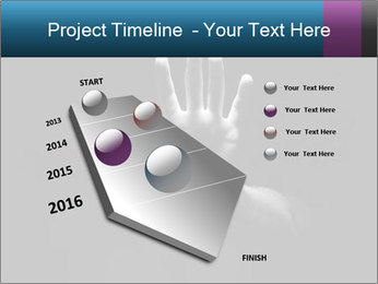 Hand Silhouette PowerPoint Template - Slide 26
