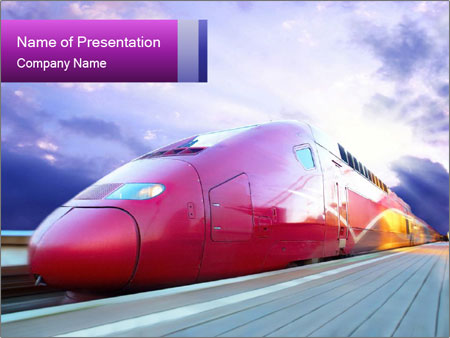 Red Train PowerPoint Template
