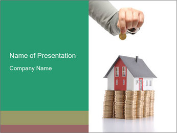 Real Estate Market PowerPoint Template - Slide 1