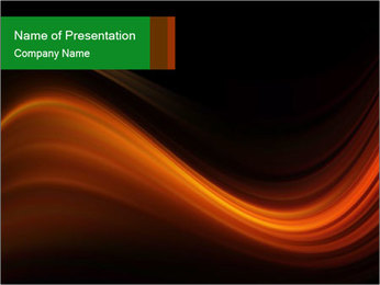Black And Orange Waves PowerPoint Template - Slide 1