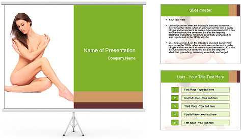 Nude Lady PowerPoint Template