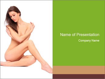 Nude Lady PowerPoint Template - Slide 1