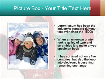Child Plays With Snow PowerPoint Template - Slide 13