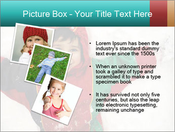 Child Plays With Snow PowerPoint Templates - Slide 17