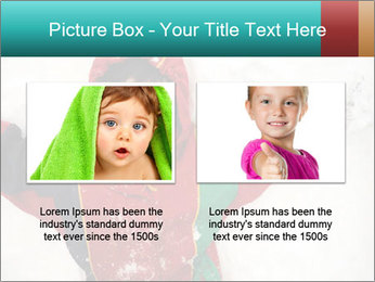 Child Plays With Snow PowerPoint Template - Slide 18