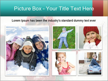 Child Plays With Snow PowerPoint Template - Slide 19