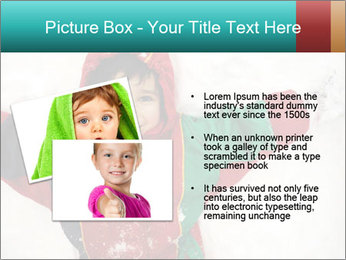 Child Plays With Snow PowerPoint Template - Slide 20
