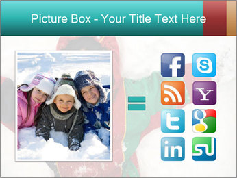 Child Plays With Snow PowerPoint Template - Slide 21