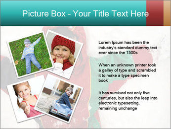 Child Plays With Snow PowerPoint Template - Slide 23