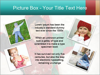 Child Plays With Snow PowerPoint Template - Slide 24