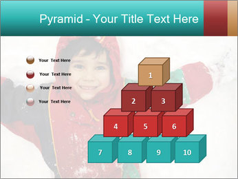 Child Plays With Snow PowerPoint Template - Slide 31