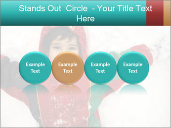 Child Plays With Snow PowerPoint Template - Slide 76