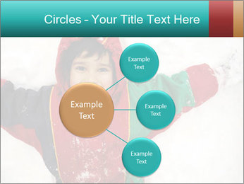 Child Plays With Snow PowerPoint Template - Slide 79