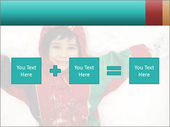 Child Plays With Snow PowerPoint Template - Slide 95