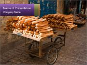 Street Bakery In Israel PowerPoint Template