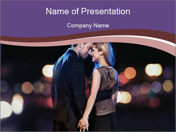 Romantic Moment For Couple PowerPoint Template - Slide 1
