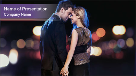 Romantic Moment For Couple PowerPoint Template