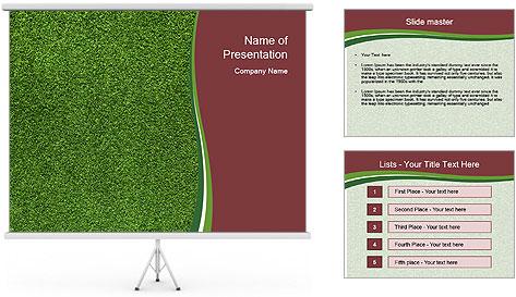 Grass On Baseball Field PowerPoint Template