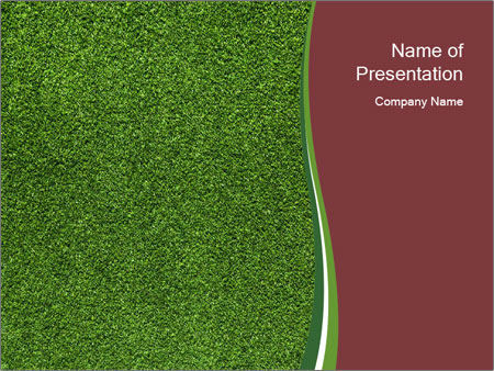 Grass On Baseball Field PowerPoint Template