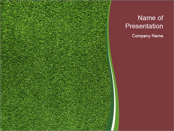 Grass On Baseball Field PowerPoint Template - Slide 1
