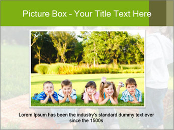 Mother With Kids In Park PowerPoint Templates - Slide 15