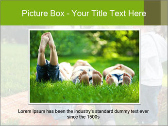 Mother With Kids In Park PowerPoint Templates - Slide 16