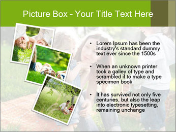 Mother With Kids In Park PowerPoint Templates - Slide 17