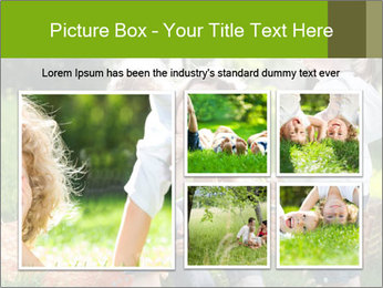 Mother With Kids In Park PowerPoint Templates - Slide 19
