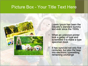 Mother With Kids In Park PowerPoint Templates - Slide 20