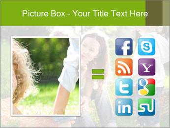 Mother With Kids In Park PowerPoint Templates - Slide 21