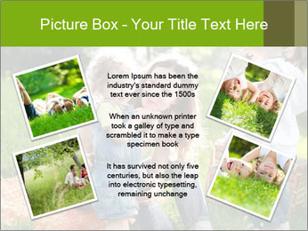 Mother With Kids In Park PowerPoint Templates - Slide 24