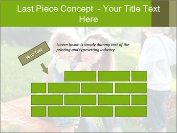 Mother With Kids In Park PowerPoint Templates - Slide 46